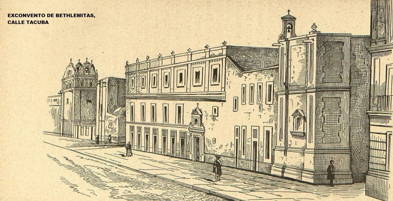 Foto 5. Convento de Betlehitas. (Litografía anónima)